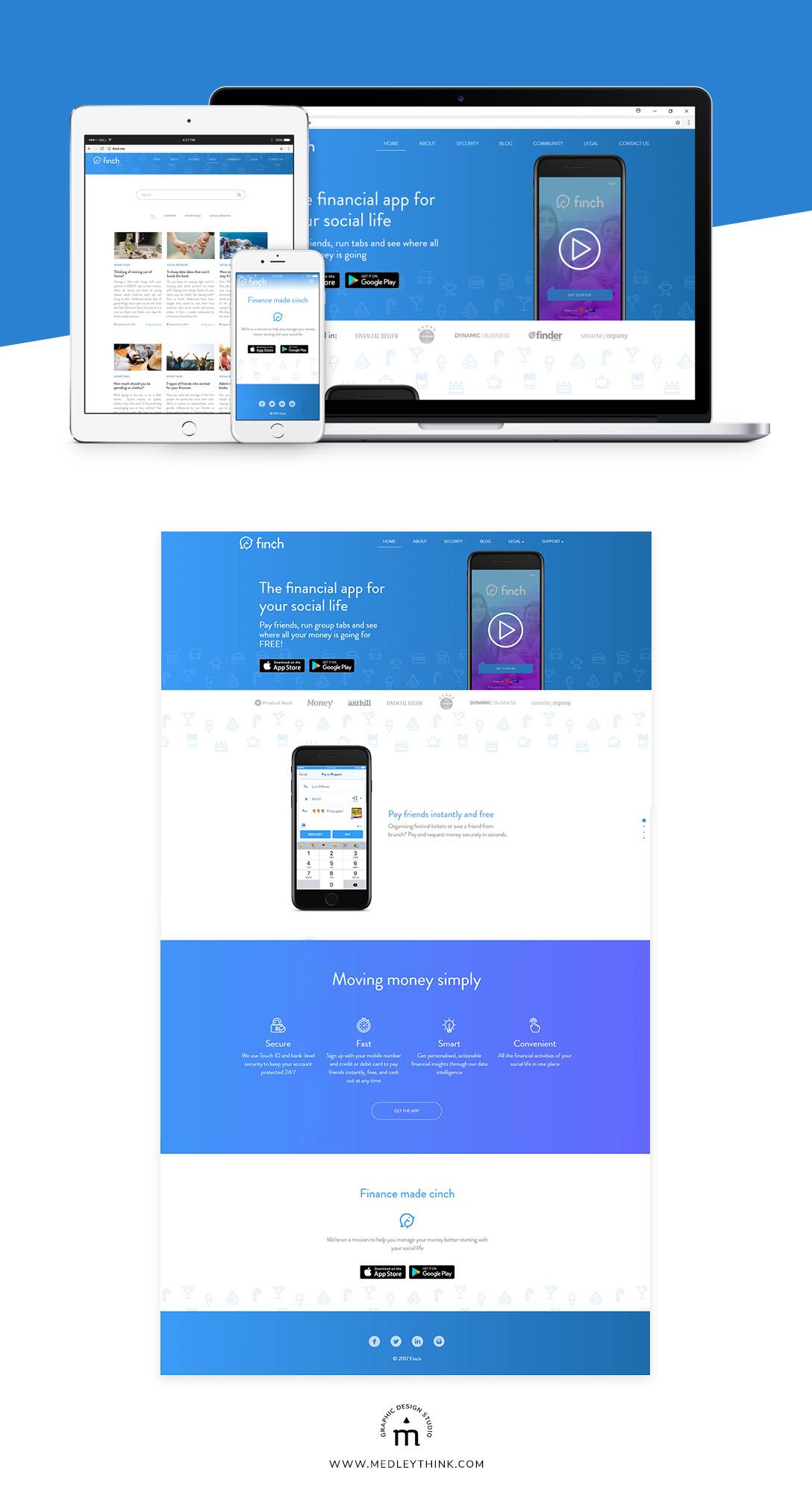 Web Design & Development for Finch Financial App