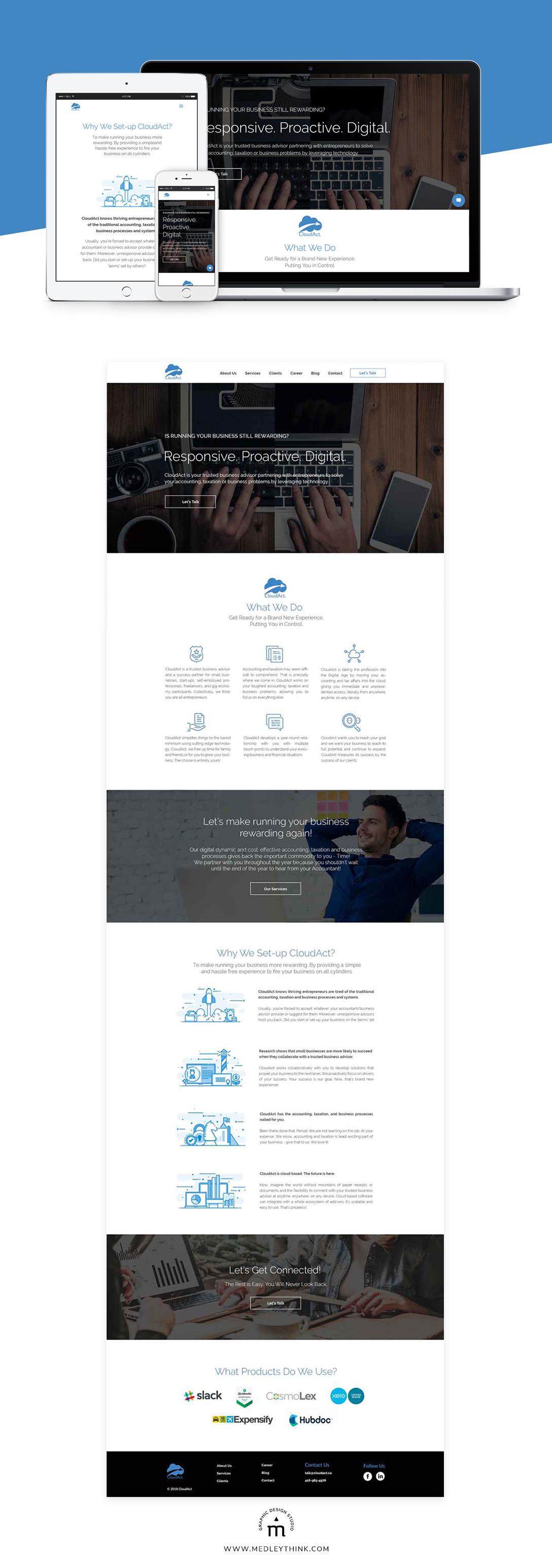 Web Design & Development for CloudAct