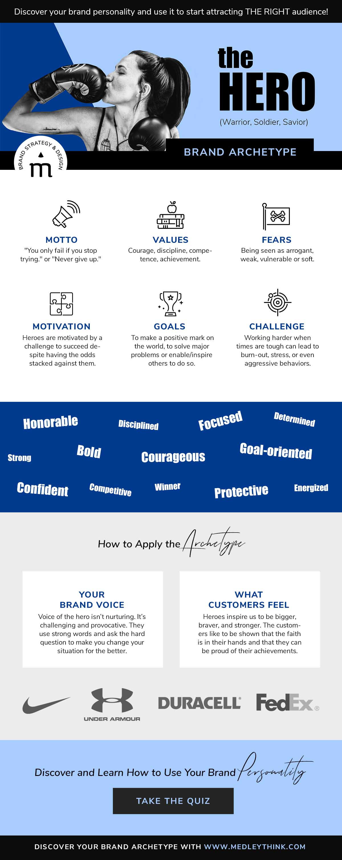 Hero Brand Archetype // Get confident about your brand personality