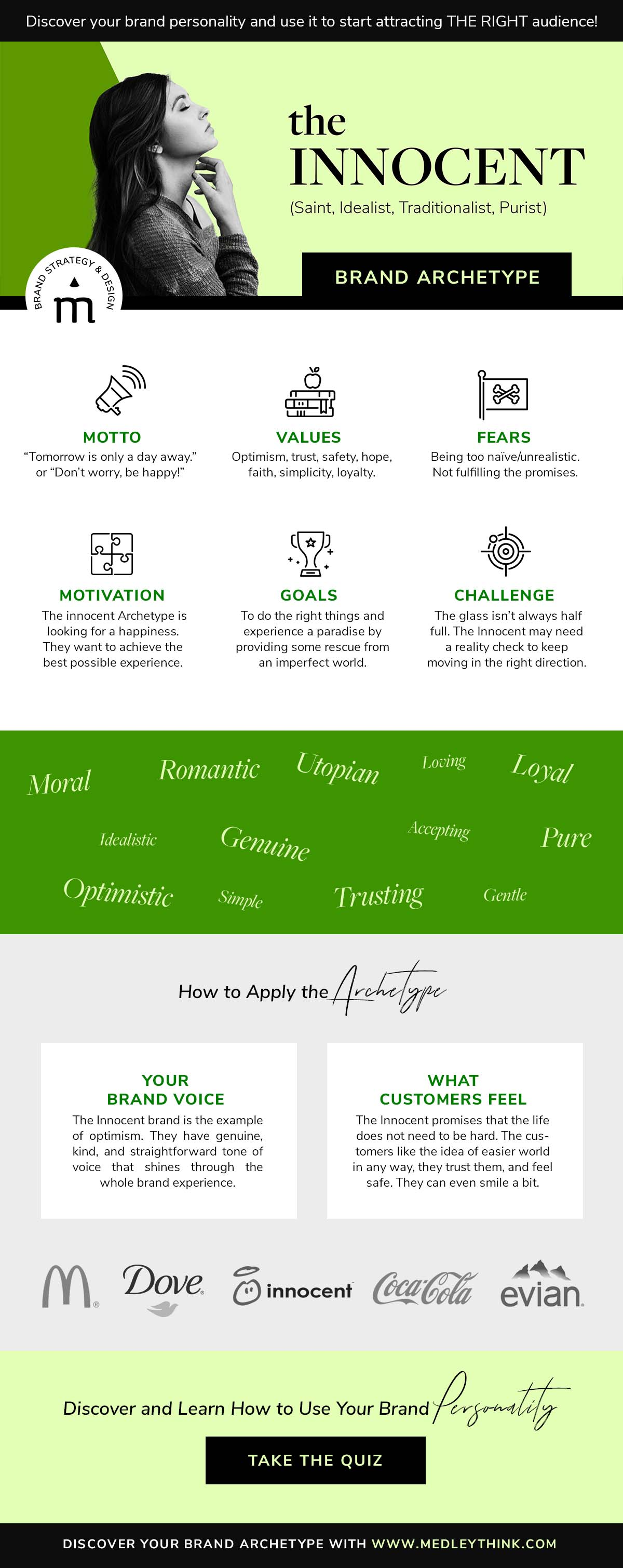 Innocent Brand Archetype // Get confident about your brand personality