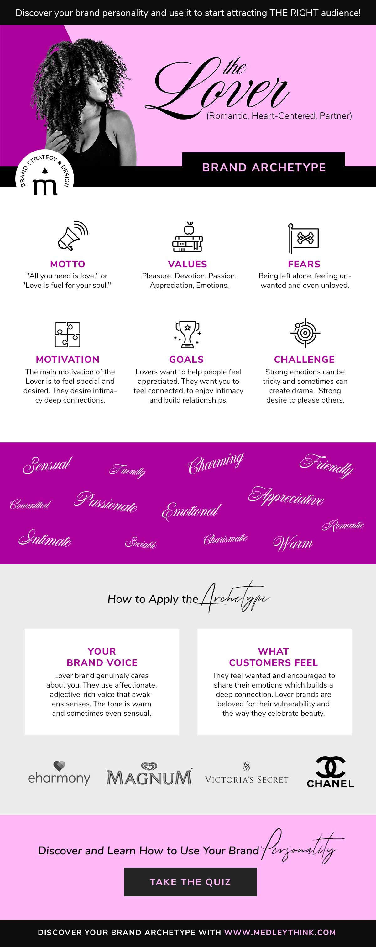 Lover Brand Archetype // Get confident about your brand personality