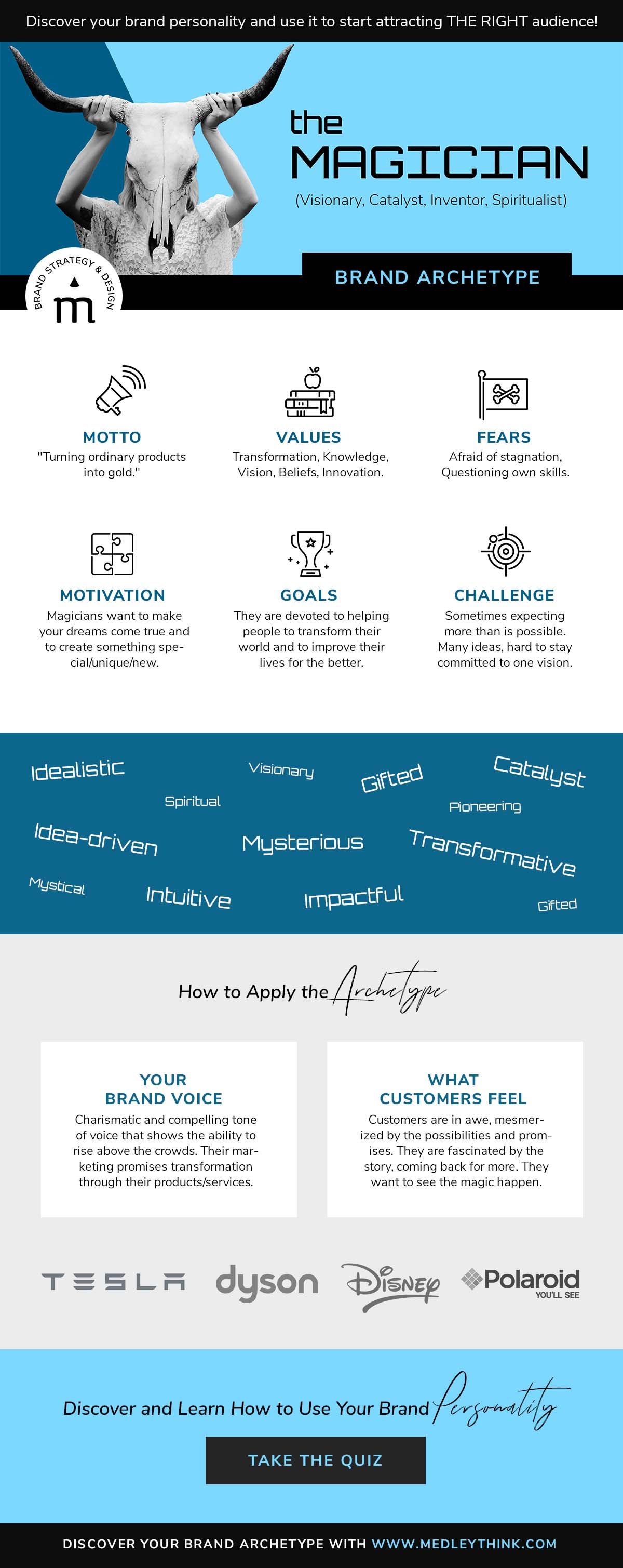 Magician Brand Archetype // Get confident about your brand personality